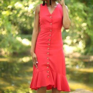 GILLI Can't Catch Me Now Red Midi Dress Sz L